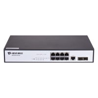 Bdcom S2510-B 8 Port 10/100/1000 Base-T, 2 Port Gigabit SFP Leyer2 Switch